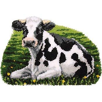 Tapis au point noué 'vache', 70 x 47 cm
