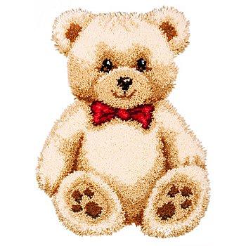 Tapis au point noué 'ours en peluche', 45 x 60 cm