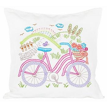 Stickkissen 'Fahrrad'