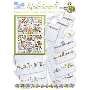 buttinette Stickvorlage 'Kindertierwelt'