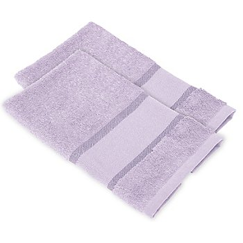 buttinette Serviettes invité à broder en tissu éponge, lilas, 2 pièces