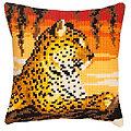 """Kreuzstichkissen """"Leopard"""""""