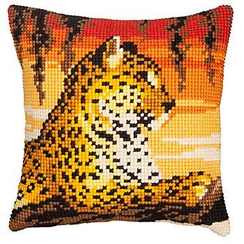 Kreuzstichkissen 'Leopard'