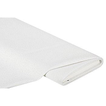 Stick- und Hardangerstoff, weiß-silber
