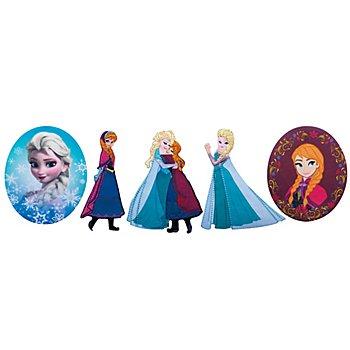Motifs à coudre et repasser 'Anna & Elsa', dim. : 4 - 9 cm, contenu : 5 pièces