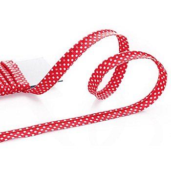 buttinette Passepoil en coton 'pois', rouge/blanc, Ø 4 mm, 5 m