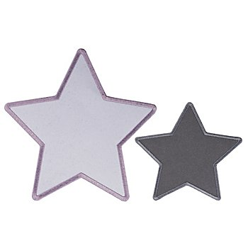 buttinette Applikationen 'Sterne', 10 - 15 cm, 2 Stück