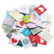 buttinette Label-Set, 2,5 x 6,4 cm, 30 Stück