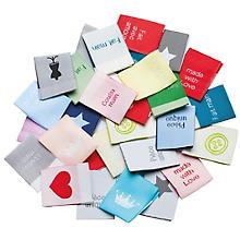 buttinette Set d'étiquettes à coudre, 2,5 x 6,4 cm, 30 pièces