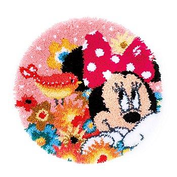 Knüpfteppich 'Minnie Mouse' Ø 53 cm