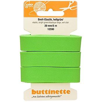 buttinette Gummiband 'Breit-Elastik', hellgrün, Breite: 20 mm, Länge: 5 m
