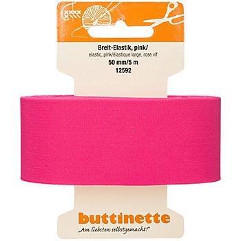 buttinette Gummiband 'Breit-Elastik', pink, Breite: 50 mm, Länge: 5 m
