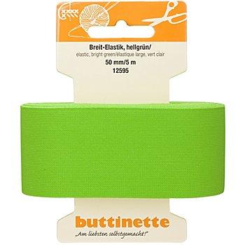 buttinette Ruban élastique 'large', vert clair, largeur : 50 mm, longueur : 5 m