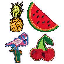 buttinette Applikationen 'Tropical', Grösse: 3 - 8 cm, Inhalt: 4 Stück