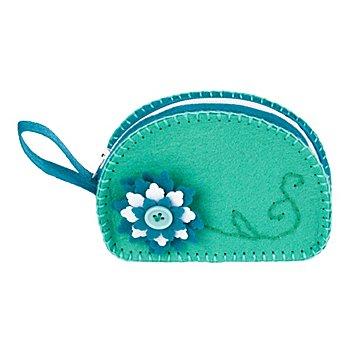 buttinette Kit couture 'petit sac en feutrine', turquoise