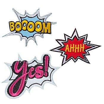 buttinette Applikationen 'Pop-Art', Grösse: 5,2 - 8,4 cm, Inhalt: 3 Stück