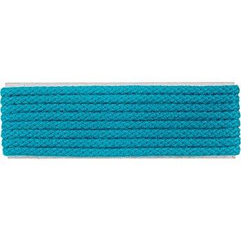 buttinette Cordon pour veste, turquoise, 4 mm Ø, longueur : 4 m