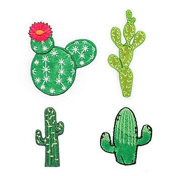 buttinette Applikationen 'Kaktus', Größe: 2 - 6 cm, Inhalt: 4 Stück