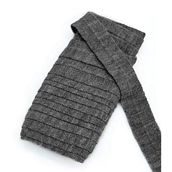 buttinette Wolltresse, dunkelgrau-meliert, 3 cm, Länge: 5 m