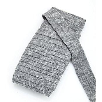 buttinette Biais en laine acrylique, gris clair/chiné, 3 cm, longueur : 5 m