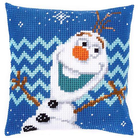 "Image of Kreuzstichkissen Disney ""Olaf"""
