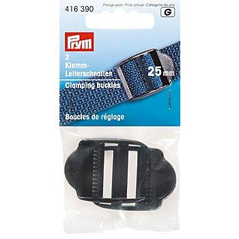 Prym Klemm-Leiterschnallen für 25 mm Bänder, schwarz, 2 Stück