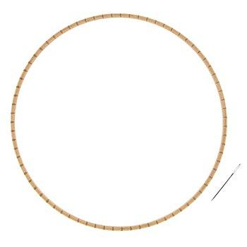 buttinette Rundwebrahmen mit Einkerbungen, Grösse: 28 cm Ø