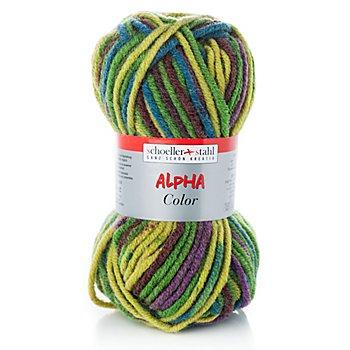 Schoeller + Stahl Wolle Alpha Color - Acrylmischung, grün