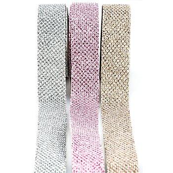 buttinette Set de rubans décoratifs scintillants à repasser, 2 cm, contenu : 6 m
