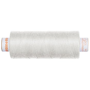 buttinette Universal-Nähgarn, Stärke: 100, 500m-Spule, hellgrau
