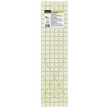 Prym Anti-Rutsch-Lineal 'Omnigrip', in Inch-Einheit, Größe: 6 x 24 Inches