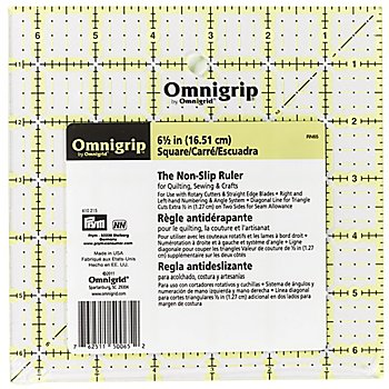 Prym Règle antidérapante 'Omnigrid', avec graduation en pouce, 6,5 x 6,5 pouces