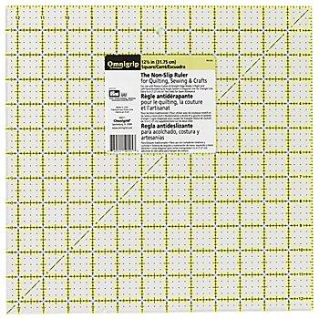 Prym Anti-Rutsch-Lineal 'Omnigrip', in Inch-Einheit, Größe: 12,5 x 12,5 Inches