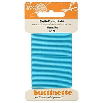 buttinette Elastik-Kordel, türkis, Stärke: 1,5 mm, Länge: 5 m