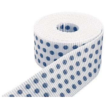 buttinette Taschengurtband 'Punkte', weiss-marine, 4 cm, Länge: 3 m