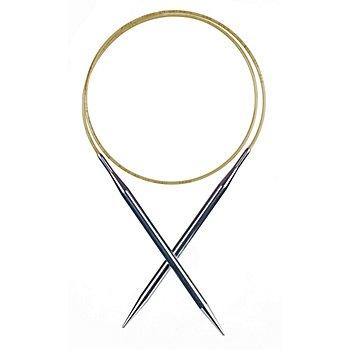addi Lace-Feinstricknadel, Messing, 80 cm