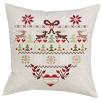 Housse de coussin à broder 'Noël au style champêtre'