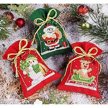 Geschenk- und Kräutersäckchen 'Weihnachts-Trio', 3er-Set
