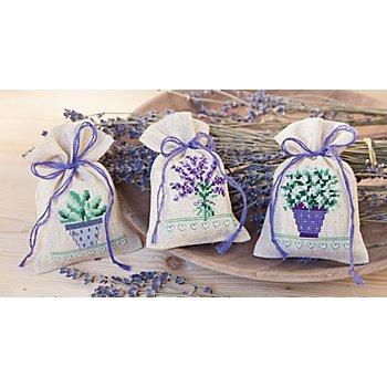 Kräutersäckchen 'Lavendeltraum', leinen, 3er-Set