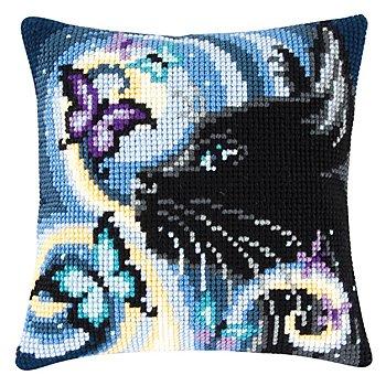 Kreuzstichkissen 'Black Cat'