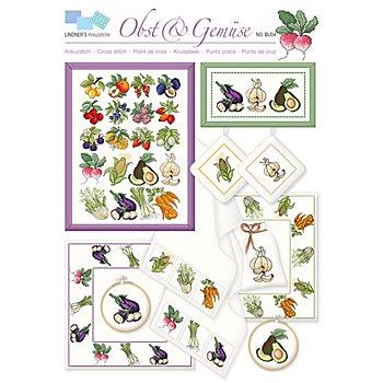 buttinette Stickvorlage 'Obst & Gemüse'