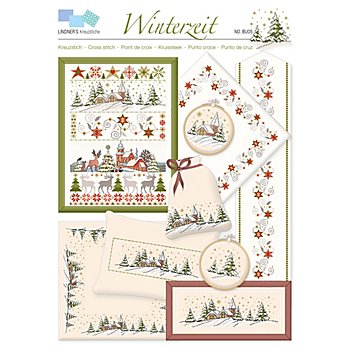 buttinette Stickvorlage 'Winterzeit'