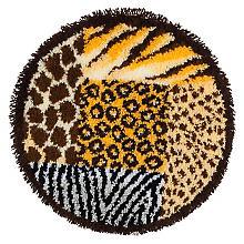 buttinette Knüpfteppich 'Animal Print', Ø 55 cm