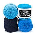 buttinette Textilgarn, Blautöne, 1000 g