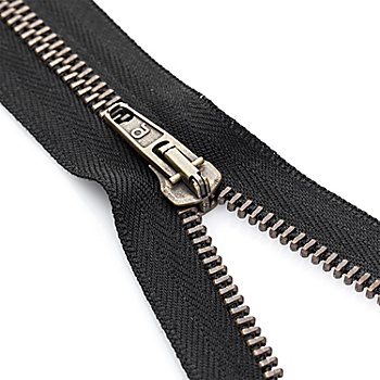buttinette Reißverschluss mit Metallkrampe, schwarz, teilbar