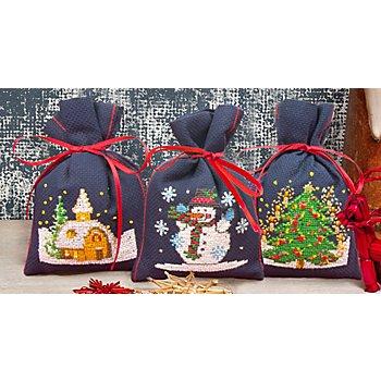 Geschenksäckchen 'Weihnacht', 3er-Set