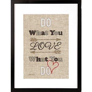 Stickbild 'Do what you love', 18 x 29 cm
