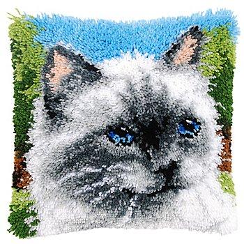 Knüpfkissen 'Katze'