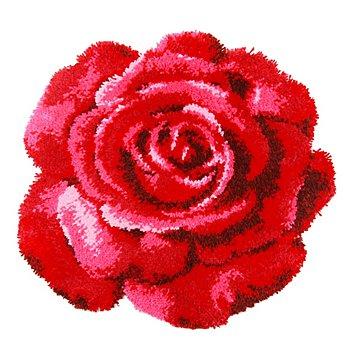 Knüpf-Formteppich 'Rose', 70 x 67 cm
