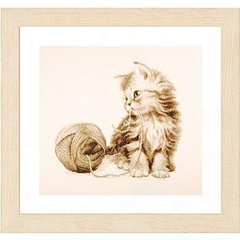 Stickbild 'Kätzchen', 29 x 26 cm